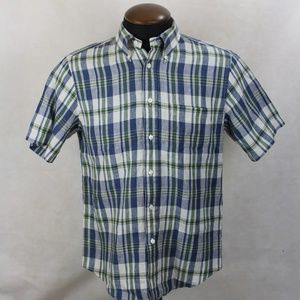 Brooks Brothers Blue Plaid Regent S/S Dress Shirt